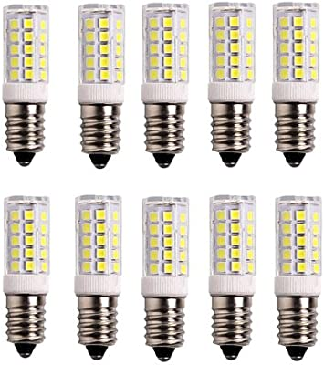 OUGEER Pack de 10 Bombillas LED E14 5W,Blanca Fría 6000K, AC 220-240V, 500 lúmenes, No Regulable, Bombilla Edison pequeña E14 5W Reemplace la bombilla halógena de 50W: Amazon.es: Iluminación