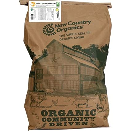 Amazon New Country Organics 17 Chicken Layer Feed 25 Pounds