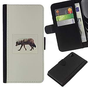 YiPhone /// Tirón de la caja Cartera de cuero con ranuras para tarjetas - Elk Arte - Sony Xperia Z2 D6502
