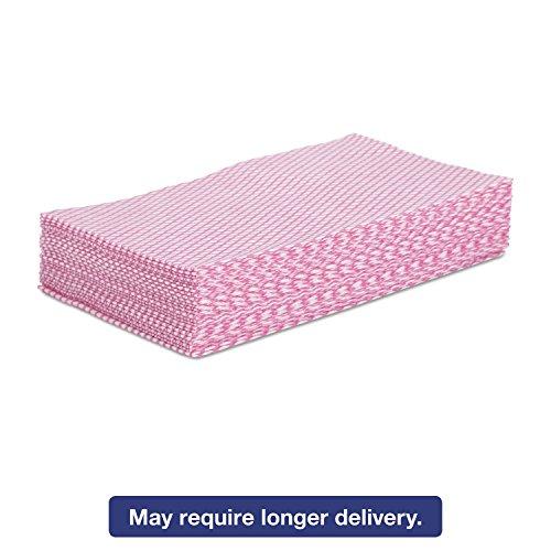 Boardwalk N8140 Foodservice Wipers Pink/White 12 x 21 ()