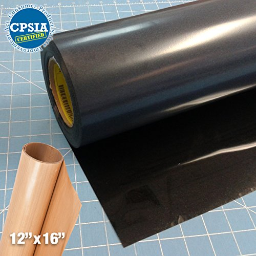 Siser Easyweed Black Heat Transfer Craft Vinyl Roll (50ft x 15'' Bulk w/ Teflon roll) by Siser
