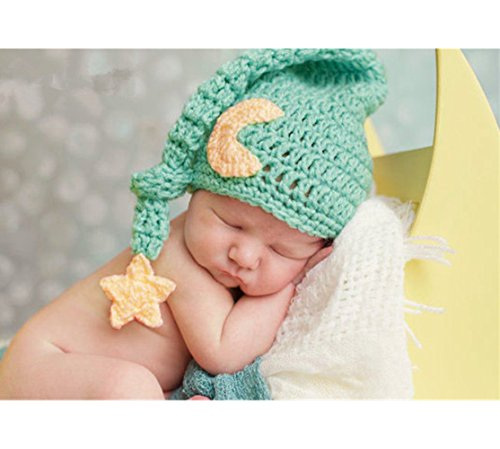 Fashion Newborn Boy Girl Baby Costume Knitted Photography Props Cute Hat (Green) (Baby Costumes For Boys)