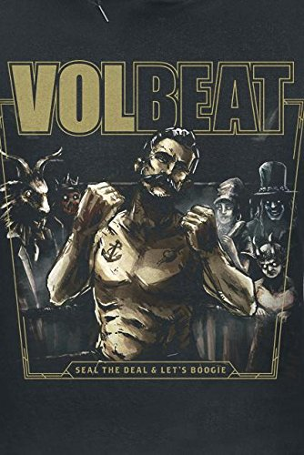 Volbeat Seal The Deal & Let's Boogie Jersey con Capucha Mujer Negro Negro