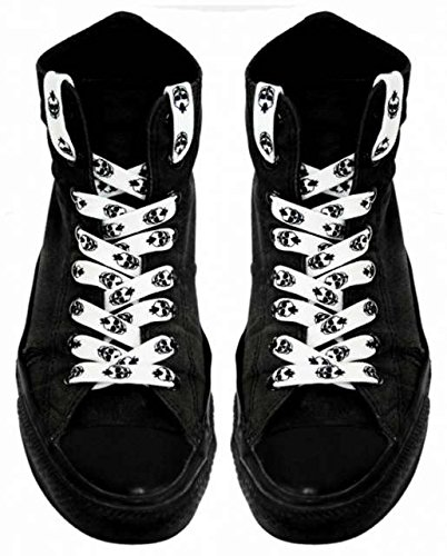 Shoe laces White Punk Skulls (Skull Shoelaces)