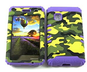 3 IN 1 HYBRID SILICONE COVER FOR LG 840G HARD CASE SOFT LIGHT PURPLE RUBBER SKIN CAMO LP-TE517 KOOL KASE ROCKER CELL PHONE ACCESSORY EXCLUSIVE BY MANDMWIRELESS