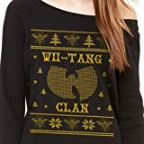 Off Shoulder Ugly Wu Tang Christmas Sweater Hip Hop Clan 36 Chambers Killer Bees Rap Music Fashion