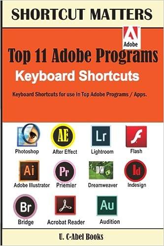 Amazon.com: Top 11 Adobe Programs Keyboard Shortcuts ...