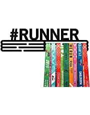 United Medals #RUNNER, Sport Medaille Hanger Display | Mat Zwart Staal houder medaillehanger (Max. 48 Medailles)