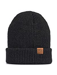 W.L Winter Warm Knit Criss-Cross fitting Skull cap beanie Fleece Lining Thick