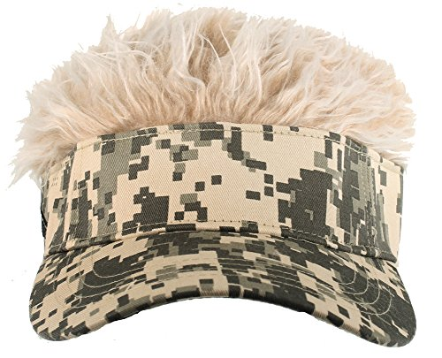 Camo Flair Hair W/blonde (Hair Hat Visor)