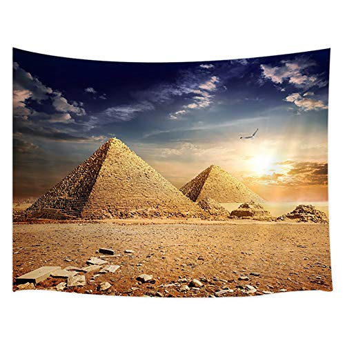 JAWO Egypt Travel Tapestry Wall Hanging, Egyptian Pyramids
