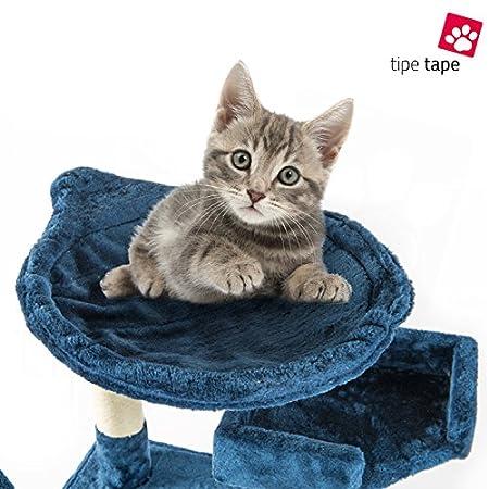 Rascador con cesto para gatos. Parque de juegos de árbol. Juego rascador para gatos, 170 cm, azul: Amazon.es: Bricolaje y herramientas