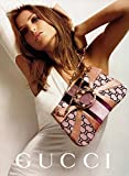 MAGAZINE PAPER ADVERTISEMENT With Daria Werbowy For Gucci Logo Handbags