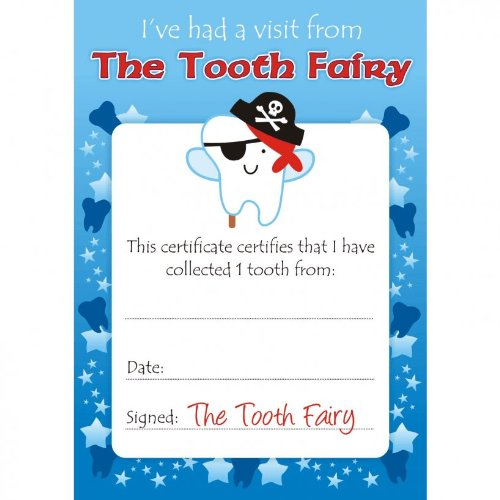 Boys Tooth Fairy Certificates