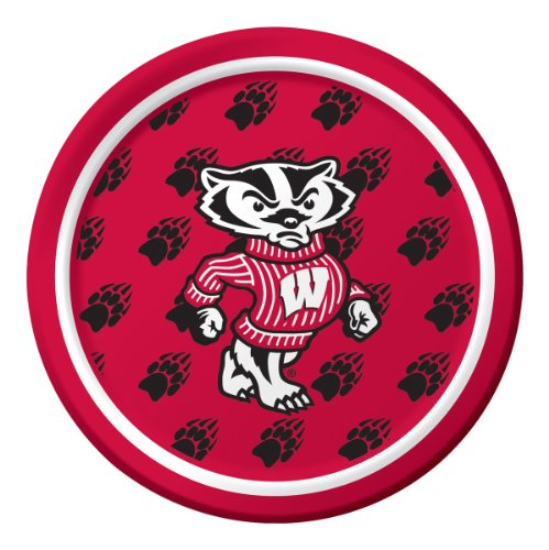 Wisconsin Badgers Dessert Paper Plates, 8-Count]()