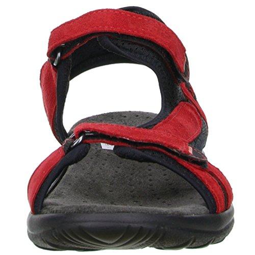 Vista Damen Trekking Wander Outdoorschuhe Sandalen Rot/Schwarz, Größe:41;Farbe:Rot