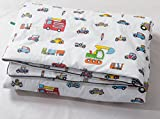 J-pinno Cars Firetruck Lorry Baby Toddle Cartoon Quilt Reversible Cozy Bed Coverlet Comforter Cotton Blanket Gift for Boys & Girls 43'' X 59'' (car)