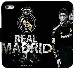 Generic Custom Flip Wallet Case,Cristiano Ronaldo CR 7 Leather Case for iPhone 6 6S 4.7 inch Black S-45130662