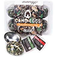 Camo Easter Eggs – Filled With Chicken Jerky – Lemon Pepper, Sriracha, Teriyaki – Includes Camo-Decored Tin Eggs, Set of 6 – Great Easter Gift