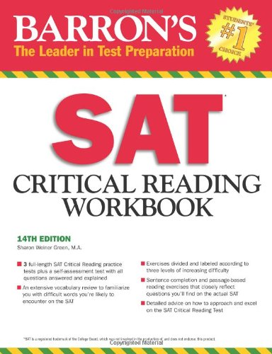 Barron's SAT Critical Reading Workbook, 14th Edition