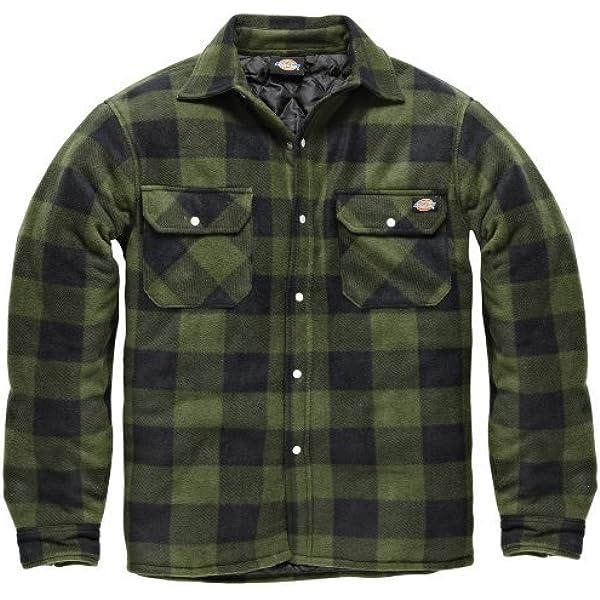 Dickies - Camisa térmica acolchada para trabajo, Verde, XX-Large: Amazon.es: Ropa y accesorios