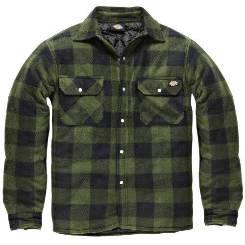 DICKIES Holzfällerhemd Thermohemd PORTLAND (XL, grün/schwarz)