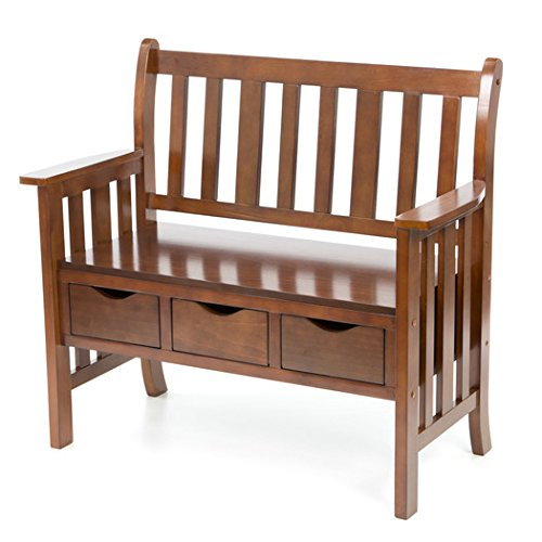 Bench / Storage Bench, Contemporary Home Decor Davidson Storage Wood Entryway Bench CSN9403/WF4403 , Assembly Required ( 36'' H x 40'' W x 19.5'' D)