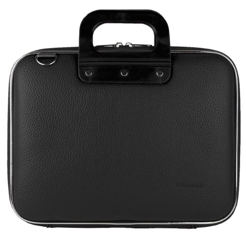 Handle Computer Briefcase (Sumaclife PU Leather Semi Hard Shell Briefcase Shoulder Bag College Satchel (Black) for Acer Iconia One 10 / Tab 10 / Switch One 10 / Aspire Switch Series 10.1