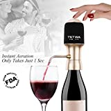 Electric Wine Aerator Decanter Dispenser Instant Luxury One Touch Portable Red and White Wine Accessories Aeration Aerator For Wine and Spirit Beginner and Enthusiast -Spout Pourer - Gift Box