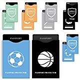 12 RFID Blocking Sleeves (10 Credit Card Holders & 2 Passport Protectors) Ultimate Premium Identity Theft Protection Sleeve Set for Men & Women. Smart Durable Design Perfectly Fits Wallet / Purse
