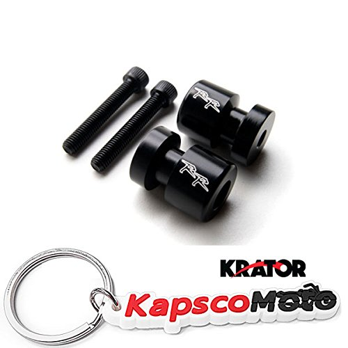 KapscoMoto Keychain Krator BlackRR Engraved Swingarm Spools Sliders for Honda CBR 600 250 900 954 1000RR RC51 and More! 2000-2011