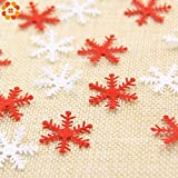 Table Party Confetti Snowflake 100PCS/Lot Christmas Snowflakes Non-Woven Fabric Confetti for Home Christmas Party Table Decoration Handmade Gift Supplies (Random)