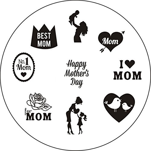 Born Pretty Mother's Day Theme Nail Art Stamping Template Image Plate BP70