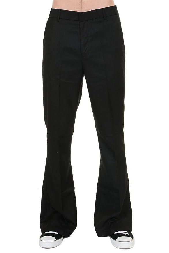 1960s – 1970s Mens Pants, Jeans, Bell Bottoms Mens Run & Fly 60s 70s Vintage Black Presley Flared Slacks Trousers $35.00 AT vintagedancer.com