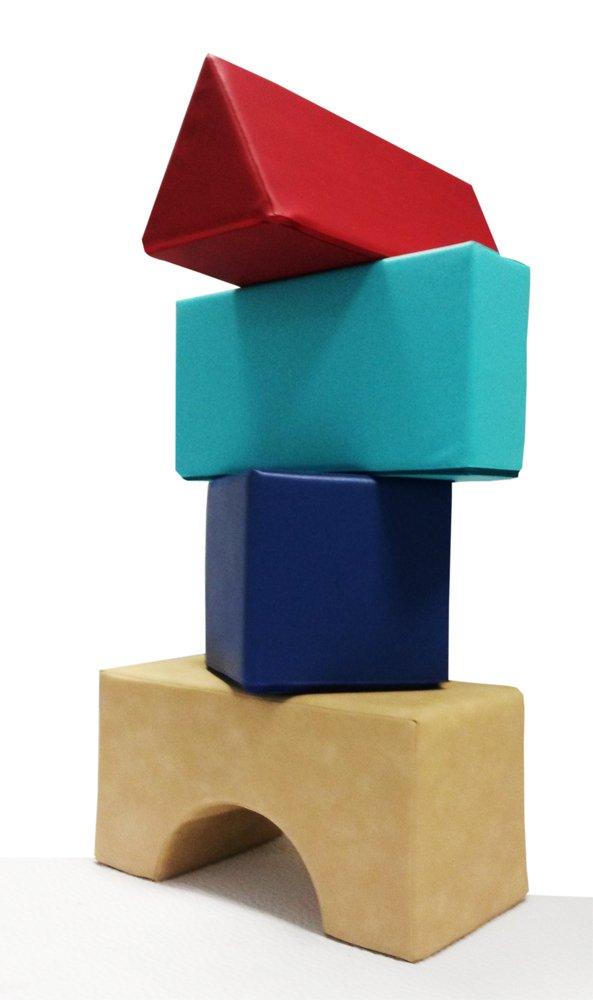 Spielpolster Set. Schaumstoff Bausteine für kreatives Spielen, Bauen, Turnen. Spielzeug fürs Kinderzimmer, ideal als Abenteuerspielzeug, Turnpolster, für Kindergarten, Kita, Spielgruppen. Großes Bausteine Set. Schaumstoffbausteine mit