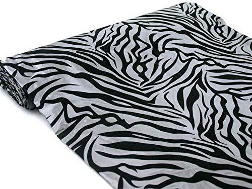 Mikash 54 x 10 yrd Zebra Stripes Animal Safari Print Fabric Bolt Put-up Wedding Decor   Model WDDNGDCRTN - 12901  
