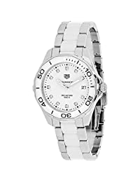 TAG HEUER WOMEN'S STEEL BRACELET & CASE QUARTZ WHITE DIAL WATCH WAY131D.BA0914