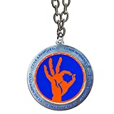 WWE John Cena Approved Blue & Orange Spinning Pendant Necklace