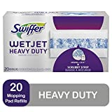 Swiffer WetJet Extra Power with Mr. Clean MagicEraser Hardwood Floor Cleaner Refills, Wet Jet Spray Mop Pad Refill, 20 Count