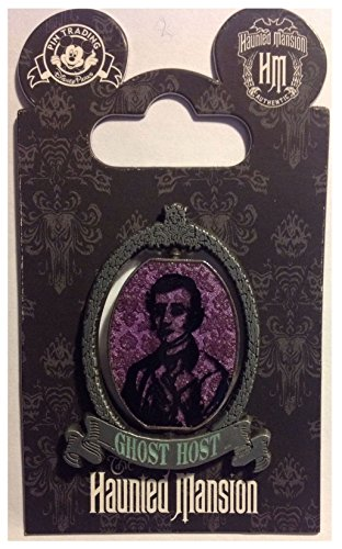 Disney Haunted Mansion 45th Anniversary Ghost Host Spinner Pin - Theme Park Exclusive