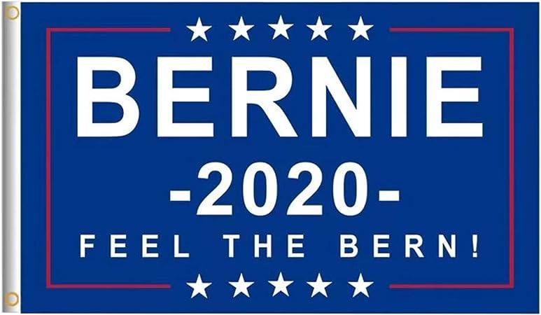 Bernie 2020 Flag FREE SHIPPING For President Feel the Burn 3x5 FT Sanders Banner