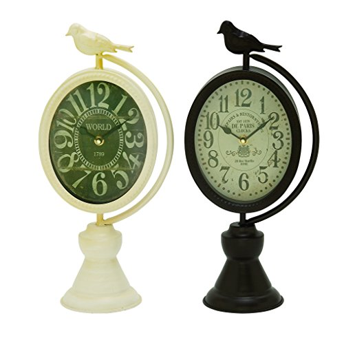 Deco 79 92257 Metal Table Clock, 8