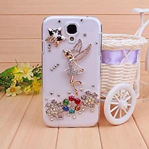 Mini - Diamond Angel Flowers Back Cover Case for Samsung Galaxy S4 I9500