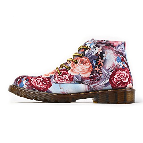 1ec3b985d941 FIRST DANCE Fashion Sneakers for Women Flower Printed Cotton Fabric ...