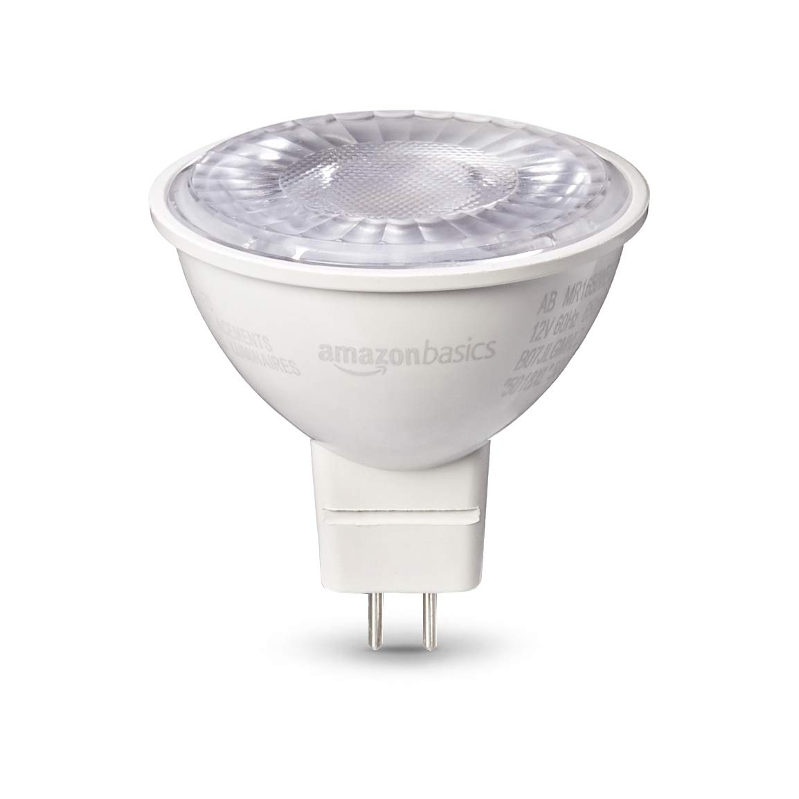 AmazonBasics 50W Equivalent, Warm White, Dimmable, 10,000 Hour Lifetime, MR16 (GU 5.3 Base) LED Light Bulb   6-Pack