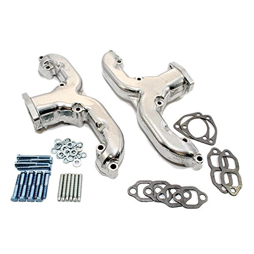 Assault Racing Products A9995-CER Chevy Small Block Rams Horn Ceramic Exhaust Manifold SBC