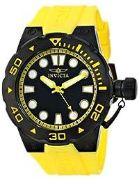 Men's Pro Diver Chronograph Yellow Polyurethane Strap Black Dial