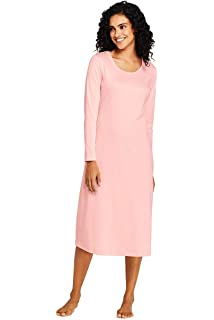 10805fcb921 Lands' End Women's Midcalf Supima Cotton Nightgown at Amazon Women's ...