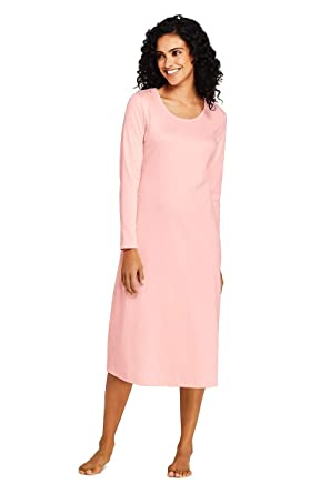 2c47ed8f3 Lands' End Women's Midcalf Supima Cotton Nightgown at Amazon Women's  Clothing store: