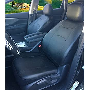 Fabulous Amazon Com 116001 Black Fabric 2 Front Car Seat Covers For Pabps2019 Chair Design Images Pabps2019Com